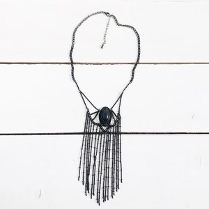 Urban Outfitters Serena Fringe Statement Necklace